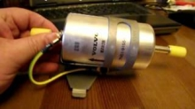 Замена топливного фильтра на Вольво